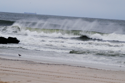 The ocean on Sunday, October 28 the afternoon before Sandy came.