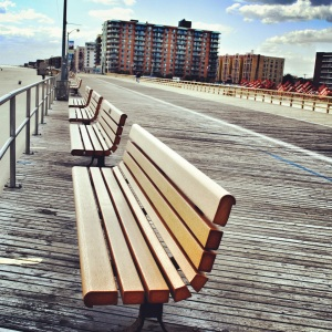 The boardwalk on a rare empty afternoon in May 2012.