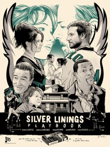 The Silver Linings Playbook poster created by Joshua Budich.