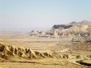 The Negev desert.