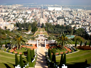 View of the Bahai Gardens in Haifa