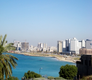Looking into Tel Aviv from Jaffa.