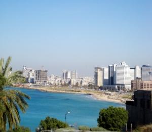 Looking into Tel Aviv from Jaffa.