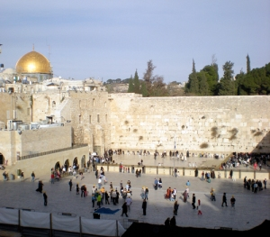 The Western Wall in the old city of Jerusalem.