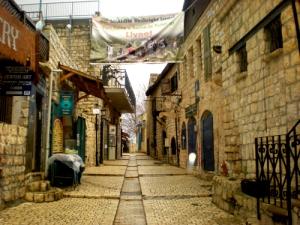 I love the cobblestone streets and the art of Tzfat.