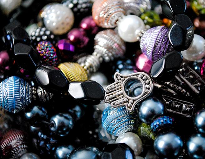 diy, jewelry, beads, hamsa, handmade, colorful