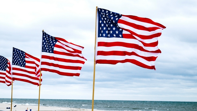 american flag, independence day, fourth of july, beach, long beach, long island, new york, red white and blue, stars and stripes