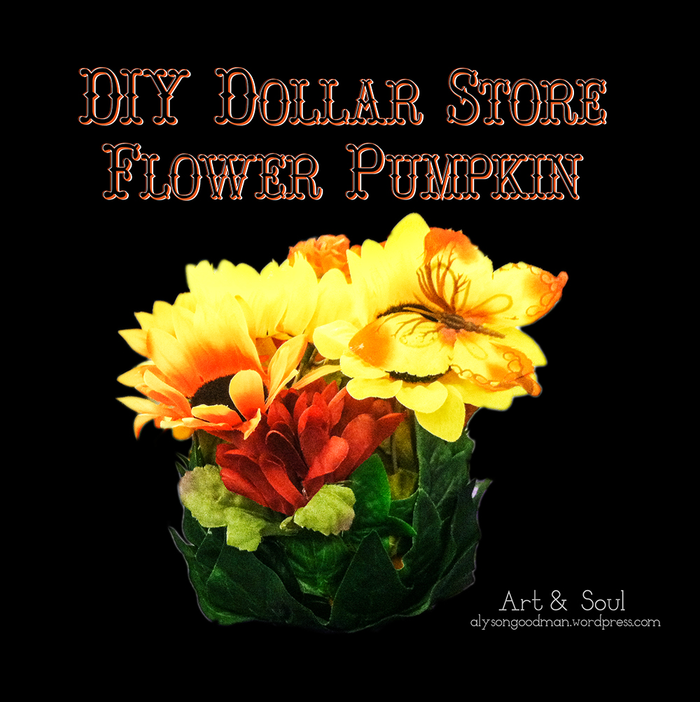 pumpkin, craft, diy, flower, flowers, dollar store, autumn, fall, halloween, thanksgiving, diy craft, diy crafts, diy dollar store, diy pumpkin