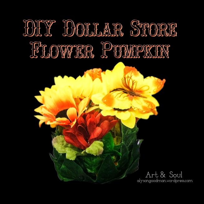 pumpkin, craft, diy, flower, flowers, dollar store, autumn, fall, halloween, thanksgiving, diy craft, diy crafts, diy dollar store, diy pumpkin