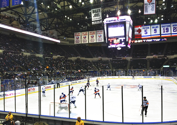 The New York Islanders playing the Toronto Maple Leafs on February 28, 2013.
