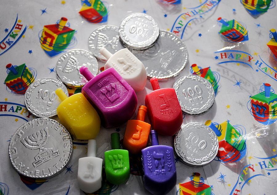 chanukah, dreidel, dreidels, gelt, holiday, Jewish, Jewish holiday, festival of lights, hanukkah