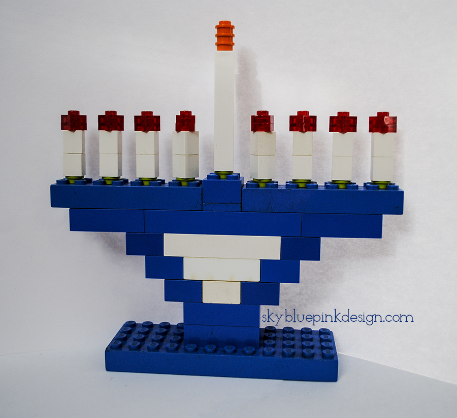 menorah, chanukah, hanukkah, lego, legos, holiday, Jewish, Jewish holiday, diy, craft, diy menorah, diy legos, holiday craft