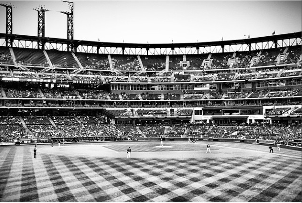The view from my seats during the Mets/Cubs game at Citi Field in August.