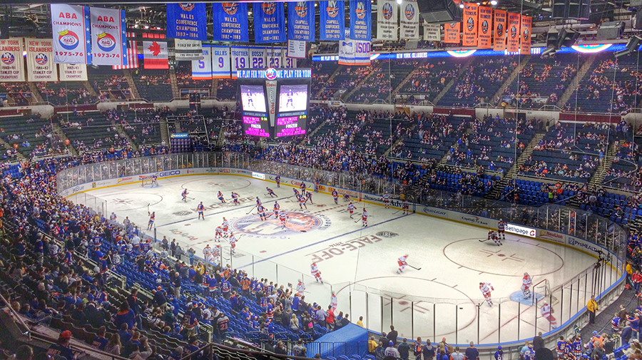 New York Islanders, Nassau Coliseum, opening night October 11,2015