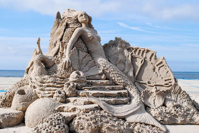 Sand sculpture in Long Beach, NY. Photo by Alyson Goodman.