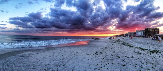 Sunset in Long Beach, NY, photo by Alyson Goodman. Cannot be reused without permission.