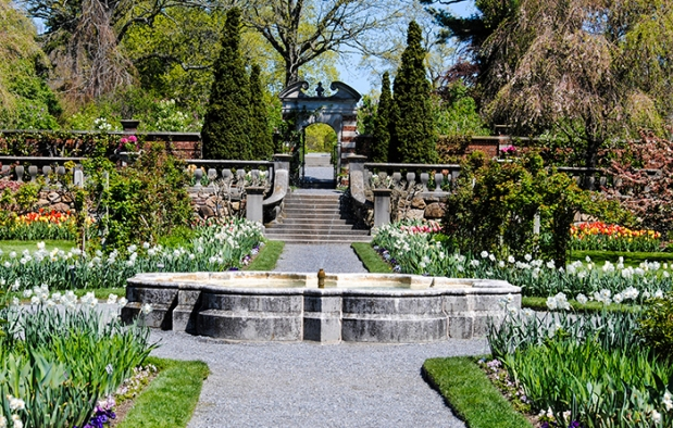 The walled garden at Old Westbury Gardens in Old Westbury, NY. Photograph by Alyson Goodman.