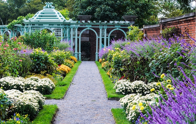 The Walled Garden at Old Westbury Gardens in Old Westbury, NY. Photo by Alyson Goodman.