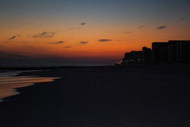 Sunset in Long Beach, NY. Photo by Alyson Goodman.