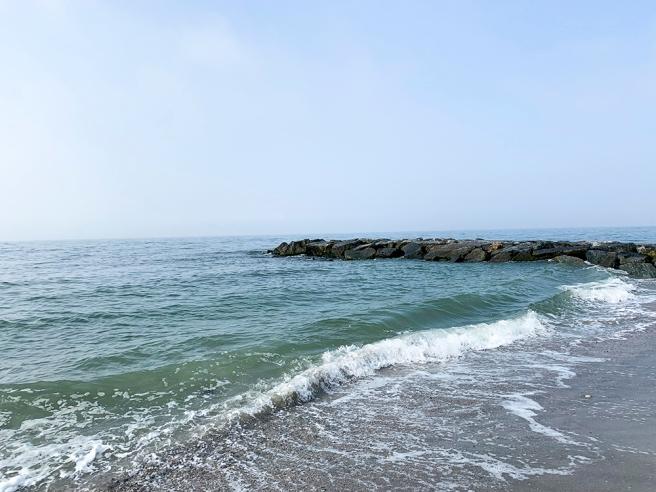 Early morning waves at Long Beach, NY. Photo by Alyson Goodman.